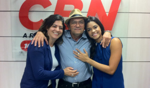 CBN recebe Lucy Alves, classificada no The Voice Brasil