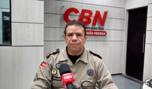 Tenente Coronel Arnaldo Sobrinho fala ao CBN João Pessoa